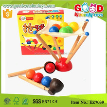 Wood Spoon Scoop Ball Kids Ball Game Family Fun Toy