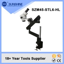 SUNSHINE 3.7-45x Flexible Arm Zoom Microscope With Led Light For Mobile Phone Repair