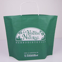Promotional stand up printed new design kraft paper bags with twisted patch handle