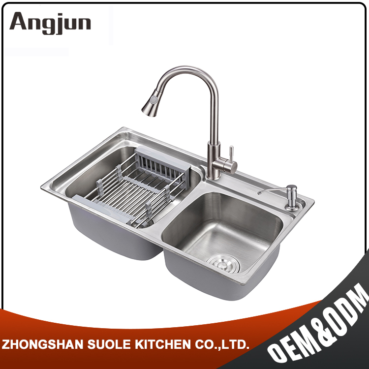 Commercial Brushed Stain Handmede R30 Kitchen Sinks Stainless Steel