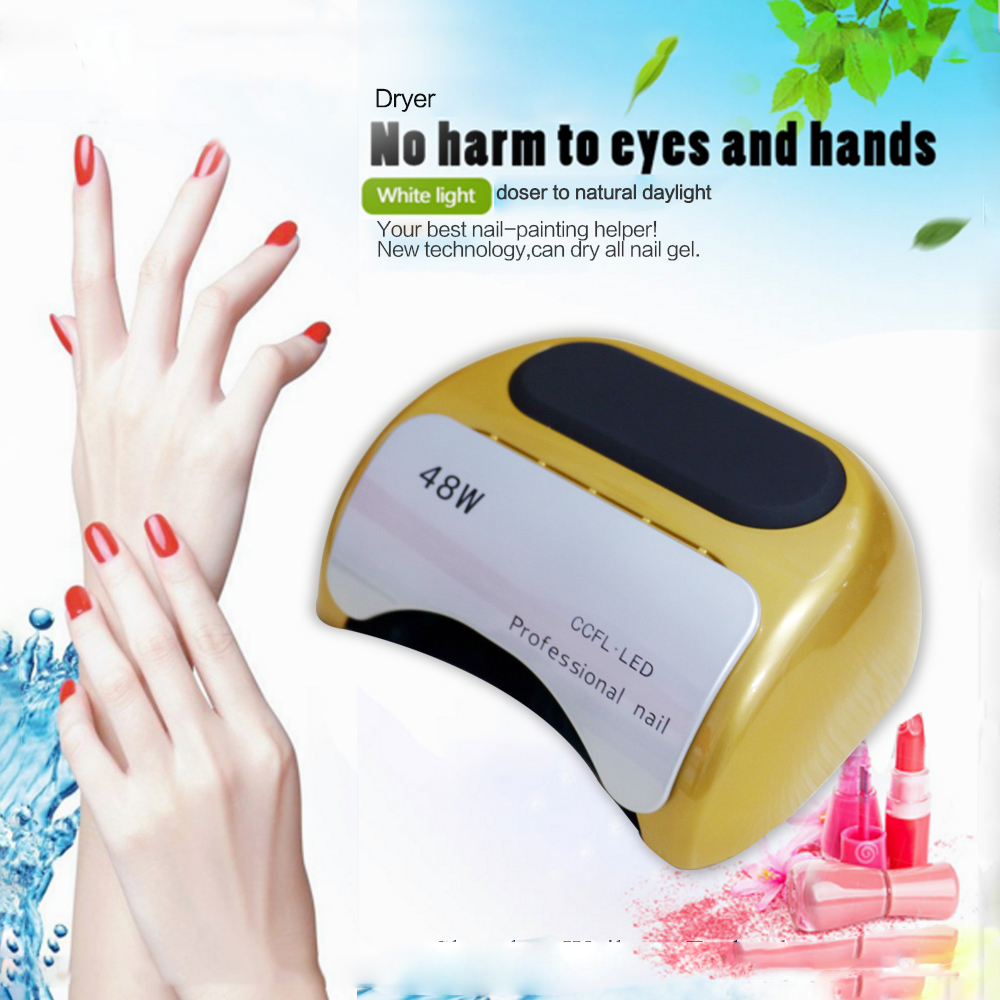 Manicure ccfl nail led uv lamp with sensor