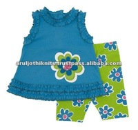 BABY CLOTHING SET WITH RUFFLED EDGES
