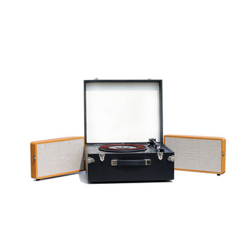 USB CD MP3 Bluetooths Portable Turntable Record Player with 3 speed Hot Sales