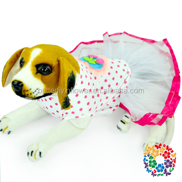 Wholesale Popular dog clothes, rainbow pet dog Top Dress clothing