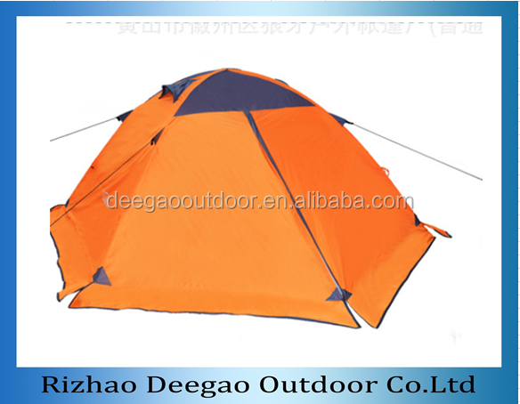 light weight 210T Polyester Aluminum Frame Unique Camping Snow Tent