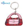 Fashion Decorative Handbag Keychain Custom Leather