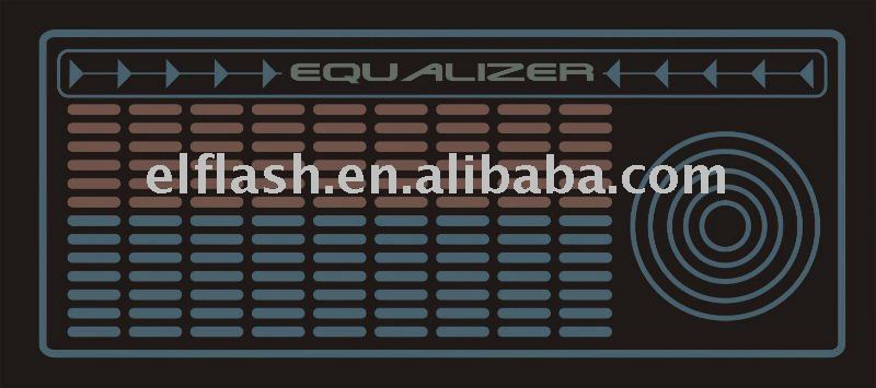 Equalizer flashing el led