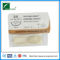 Disposable Medical Device Sterile Chromic Catgut Surgical Suture With Needle