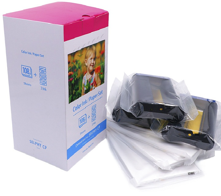 Compatible For Canon Selphy CP910 Ink and Paper Set KP 108 IN High Quality