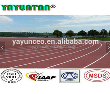 rubber running track surface/ sports court floor/,full PU running track,