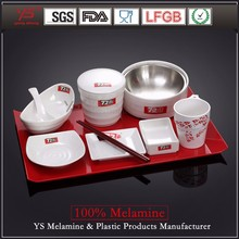 SGS certified good quality hot pot restaurants melamine modern design dinnerware set