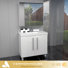 Hangzhou Vermonhouse White Modern Tall Bathroom Cabinets Free Standing