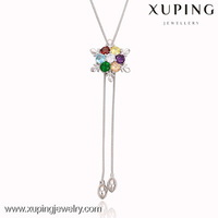 42479 xuping fashion necklace gold jewellery for women Rhodium color gold necklace
