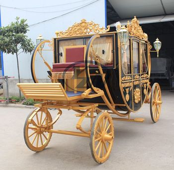 Yizhinuo Luxury Royal carriage for exhibition royal horse drawn wagon