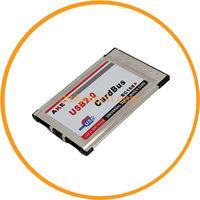 2 Port USB 2.0 PCMCIA CardBus 480M Card Adapter Laptop from dailyetech