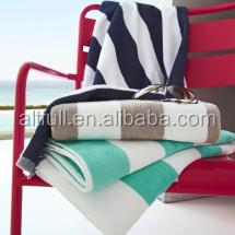 China factory supplier 100% cotton pool towels in different stripes,stripe towels