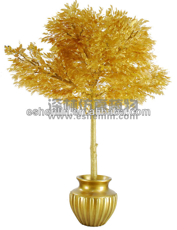 best decorative high imitation artificial golden ficus tree
