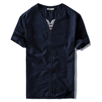 Guangzhou manufacture latest new design mens polo shirt cotton linen customized for men polo t shirt