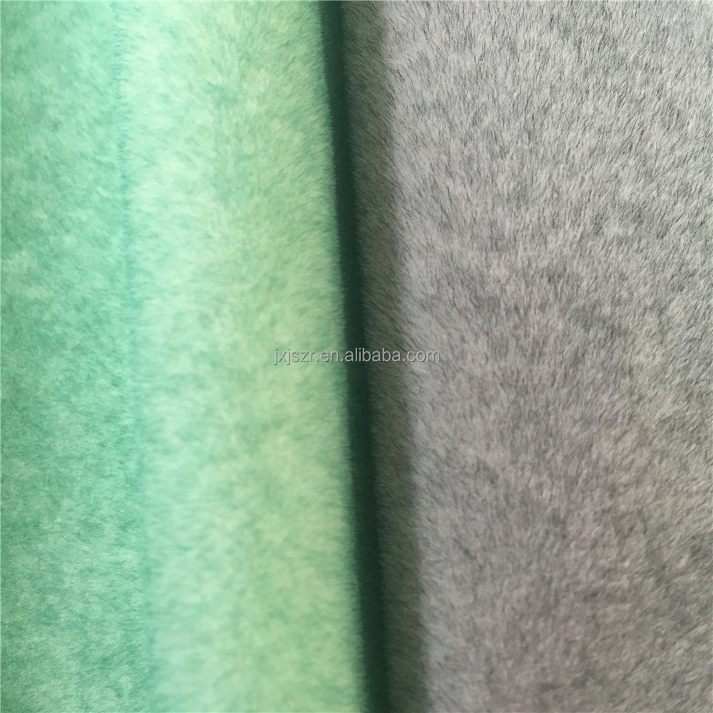 100% polyester material cashmere flocked fabric