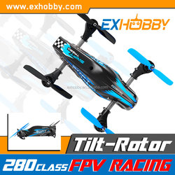 Features a very unique frame with a unique Dynamic Motor Tilting Carbon Frame black rc quadcopter 801-1