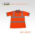 Anti-Shrink OEM 100% polyester safety reflective polo shirt