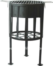 round outdoor BBQ fire basket for 4-6 person use