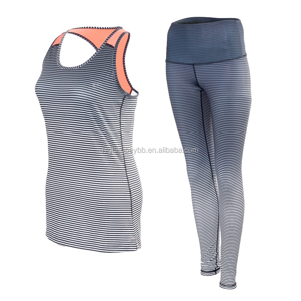 women sportswear sets bra wrest top and legging