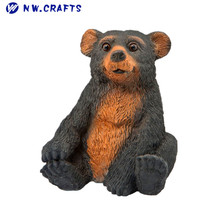 Handmade animal garden statue resin cute baby bear cubs figurine wholesale