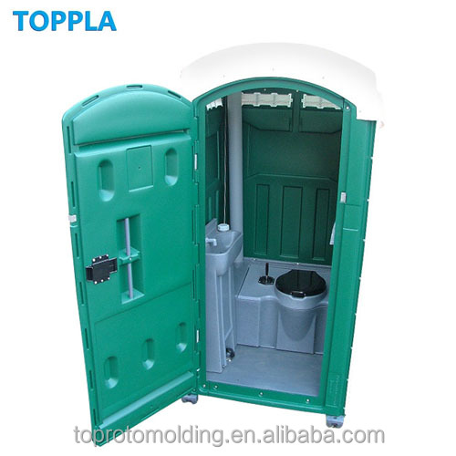 plastic portable restroom rotationally molded use HDPE high density polyethylene material