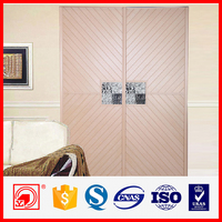 hot sale low price factory pricee shutter plastic board sliding wardrobe door