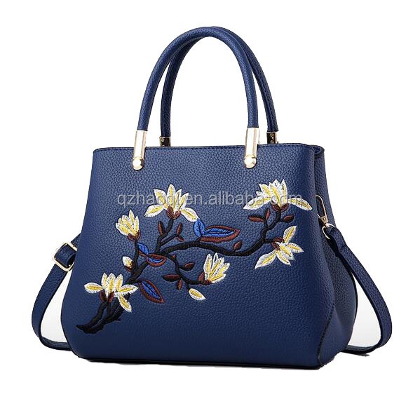 NEW style chinese embroider shopping party <strong>tote</strong> bag PU wholesales