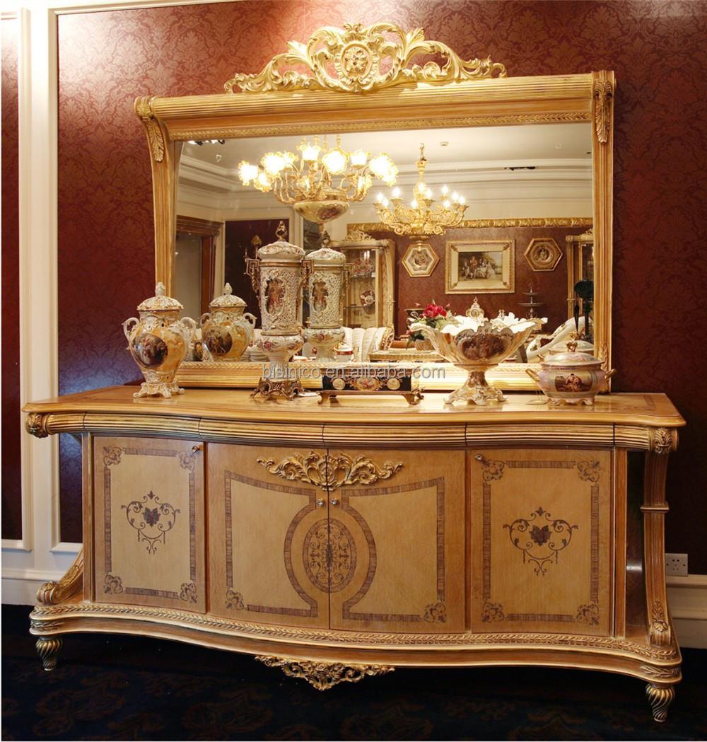 Bisini italien style l gant baroque marqueterie salle for Salle a manger baroque