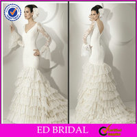 2014 Layered Organza Mermaid Old Fashioned Medieval Middle East Wedding Dresses