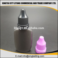 Sale the best quality 30ml plastic black PE e liquid/e juice bottle with tamperproof cap by Litang company