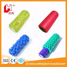 High density muscle massage eva material custom pattern gymnastic exercise foam roller 2 in 1
