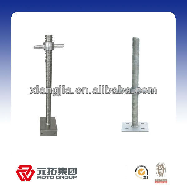 carbon steel screw jack with flange