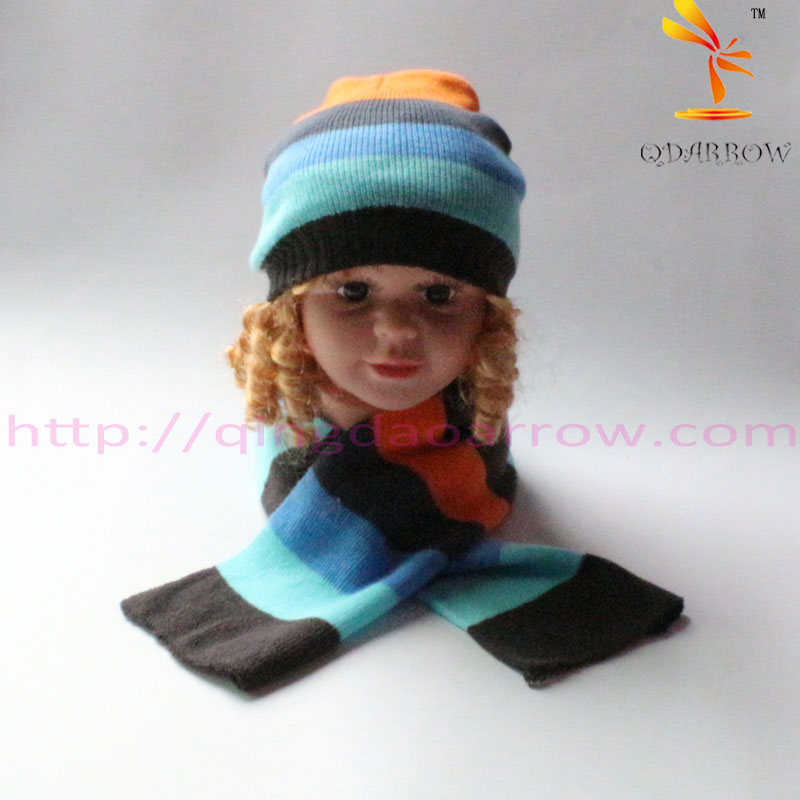 babys hat scarf and gloves set simple style for winter