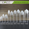CECO new arrival 60ml pet black and white vape e liquid bottle with childproof and tamper proof lid