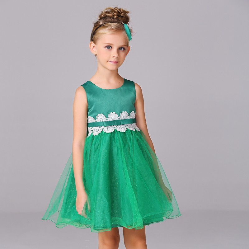 Online Children's Boutique Clothing Kids Evening Gowns Girls Party Dress L9002