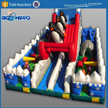 Christmas at north pole inflatable vivid colorful top quality slide