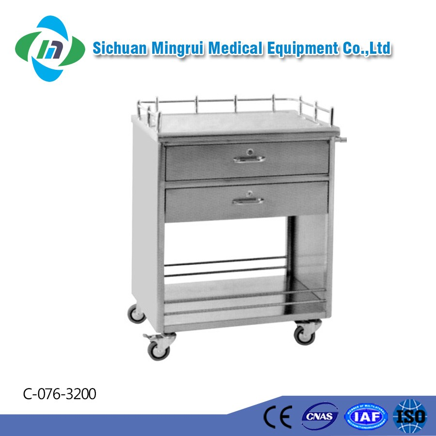 China supplier stainless steel 304 believable cheap medical hospital trolley/cart