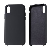 Soft Microfiber Lining Liquid Silicone Case Cover For iPhone 6 7 8 plus x