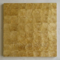 Golden color capiz shell wallpaper normal pattern
