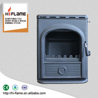 Cast Iron top and door wood burning stove type fireplace Insert with water Boiler AL357iB for sale