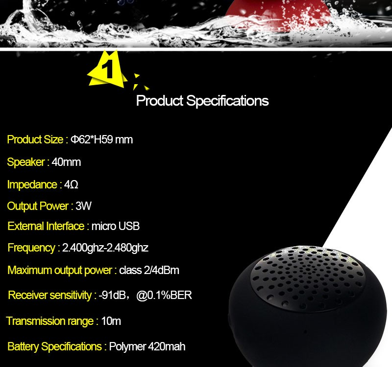 Hot New Products For 2016 Lowest Price Mini Protable Bluetooth Speaker