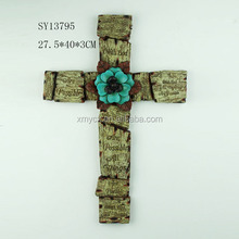 Polyresin cross wall decoration for home indoor use