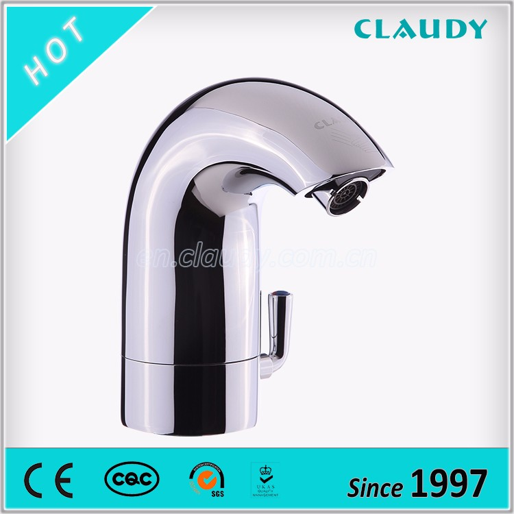 Water Saving Single Hole Sensor Faucet with Hot and Cold Water Mixer