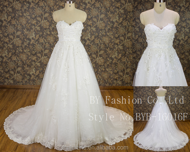 First wedding dress bridal gown lace ladies's latest designs marriage backless wedding dress China 2016 wedding frocks picture