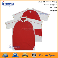 For wholesale soccer jersey in stock thailand quality football uniform