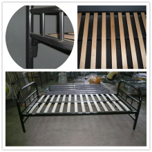 Hot Sale Sing Size Strong Stackable Military Metal Bed